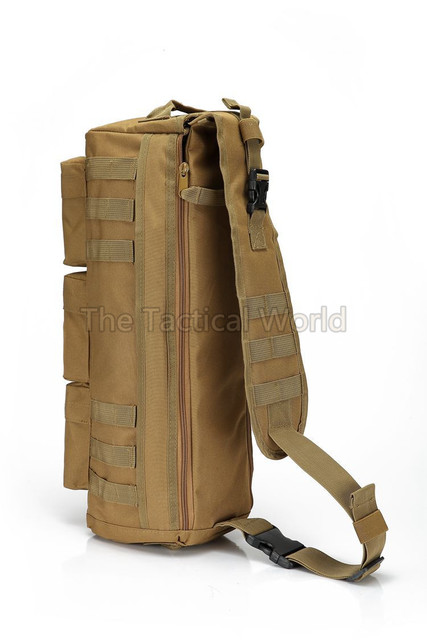 ce26a348b9 Tactical Airsoft MOLLE Zaino Assault Go Bag Spalla Sling Militare Paintball  Tan Campeggio Trekking Pacchetto Messenger