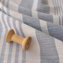 Bamboo Knots Irregular Stripes Thin Smooth Cotton Shirt Dress Original Clothing Fabric