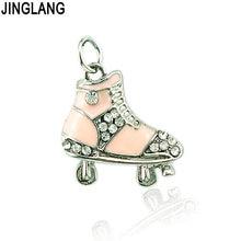 Jinglang бесплатная доставка модные белые стразы подвески для