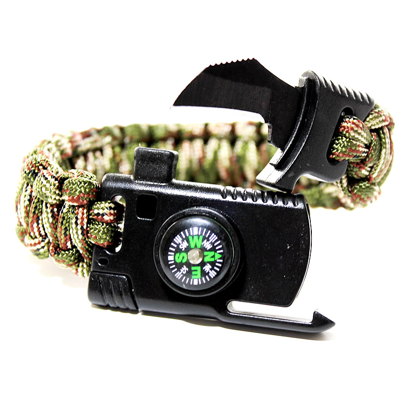 Letters woven camping black survival accessories paracord bracelet with outdoor tactical knife compass whistle multi functional survival paracord bracelet black camping outdoor survival gear whistle lifesaving braided rope tactical wrist