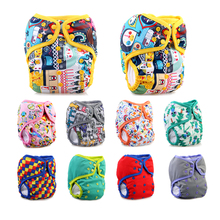 waterproof one size PUL baby pocket cloth diaper wholesale reusable sleepy diapers snap nappy suede cloth inner