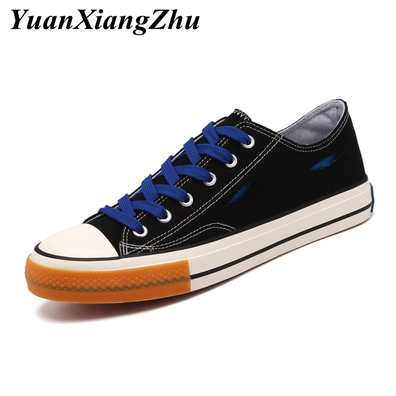2019 Summer Breathable Men Canvas Shoes Comfortable Sneakers Men Shoes Casual High Quality Wear resistant Lace up Flat Shoes Man in Men 39 s Casual Shoes from Shoes