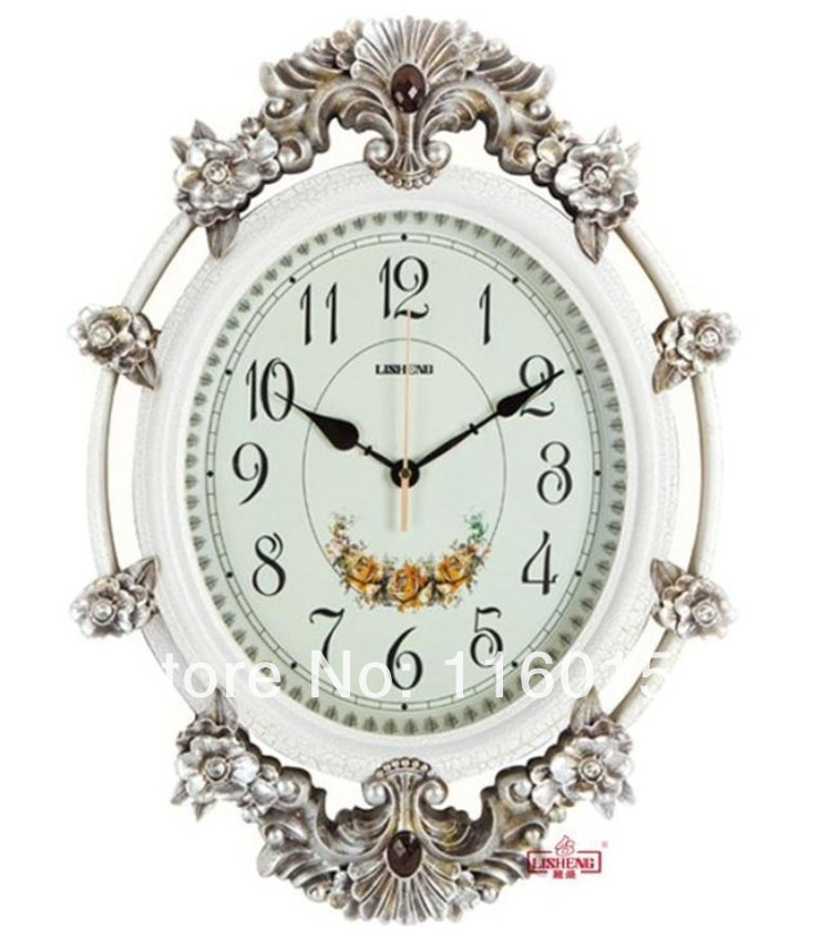 Fashion home decor european style japanese movement mute art wall clock b8113 in wall clocks - European inspired home decor photos ...