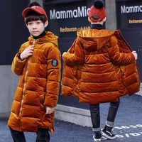 ฤดูหนาวผ้าฝ้าย - เบาะเสื้อผ้าสำหรับชายสไตล์ Golds Cashmere เสื้อวัยรุ่น Warm Outerwear 5 7 9 11 13 14 ปี