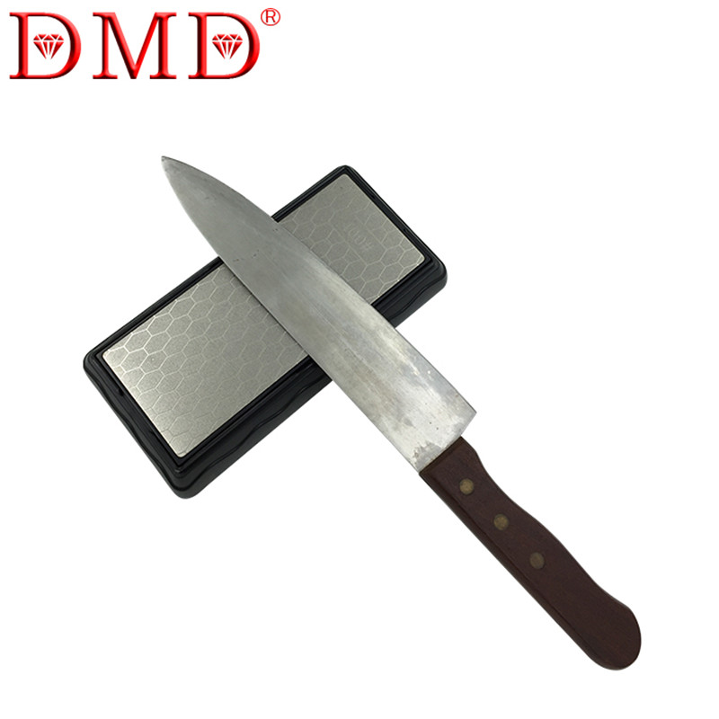 Hot sale 1pc DMD double-sided diamond whetstone kitchen knife <font><b>sharpener</b></font> tools sharpening stone 600 1200 grit with <font><b>Angle</b></font> Guide