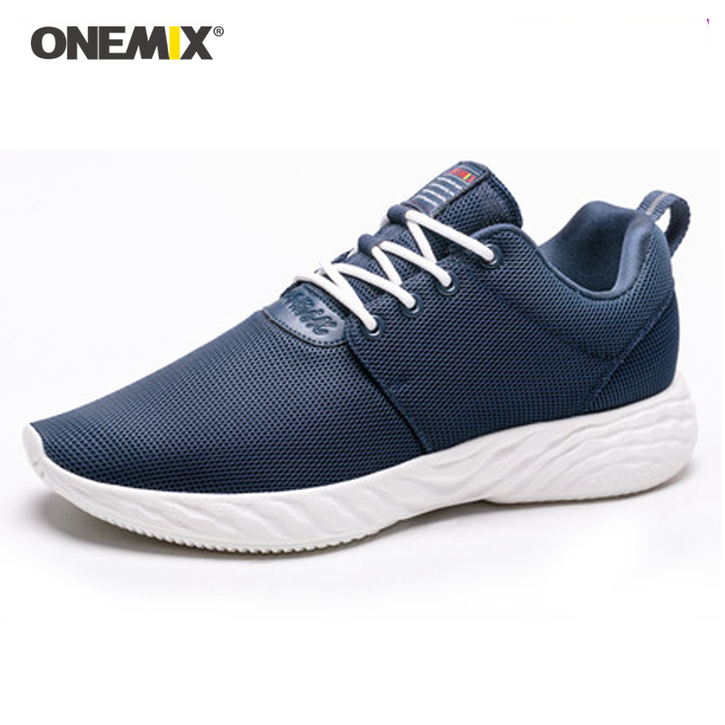 ONEMIX 2019 New Arrival blue Male Sport Time Running Shoes Breathable Walking Sneakers For Men Classic Light Sport jogging shoeONEMIX 2019 New Arrival blue Male Sport Time Running Shoes Breathable Walking Sneakers For Men Classic Light Sport jogging shoe