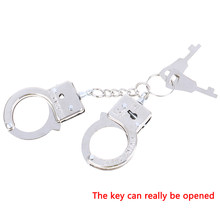 Funny Accessories Metal Keychain Hot Sale New Design Alloy Key Holder Simulation Handcuffs model Key Chain For men Best Gift(China)