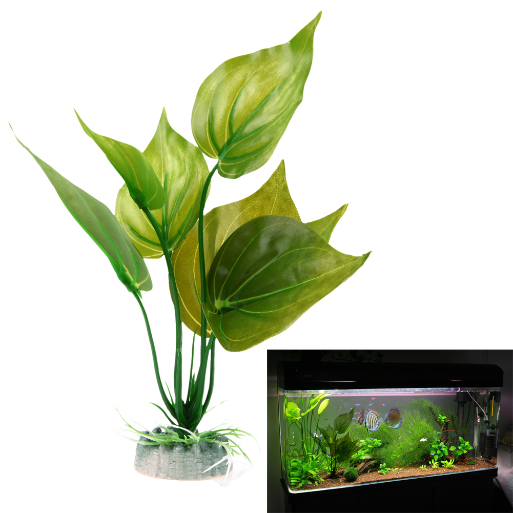 Artificial Aquatic Plastic Plants Aquarium Grass Ball Fish Tank Ornament Decor S L Size