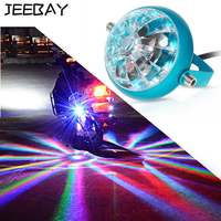JEEBAY 12V Motorcycle Decorative Lamp Stop Brake Warning Lamp LED Turn Signal Chassis Tail Pit Bike Parking Laser Fog Lights