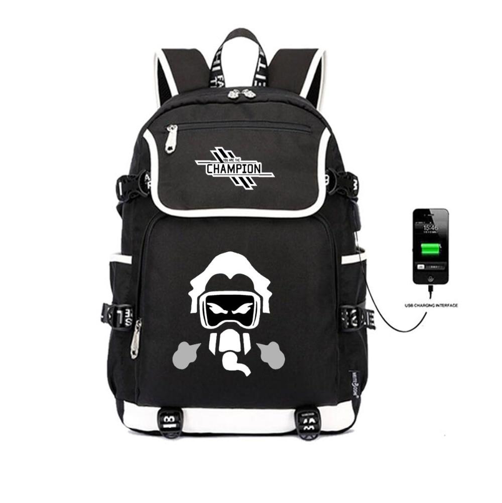 Jeux Apex légendes sac à dos USB Charge sacs à dos étudiant livre sac femmes hommes sac à dos adolescent épaule sac de voyage pochette d'ordinateur
