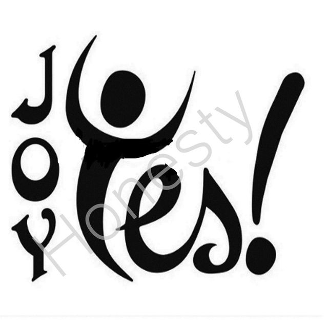 dbf5c2e0c Joy Yes! Funny Car window Vinyl Sticker Decal Truck Bumper Fine Art ...