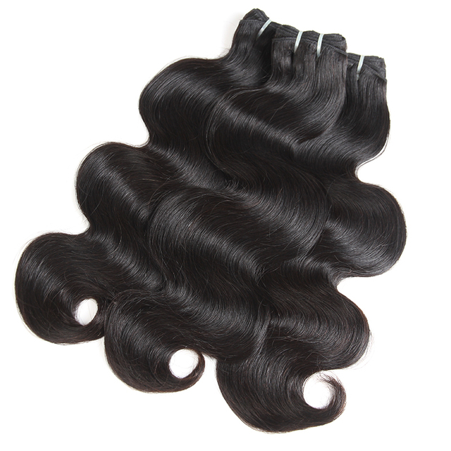 Young Girl Brazilian Body Wave Virgin Hair Extensions 3pcs Bundles