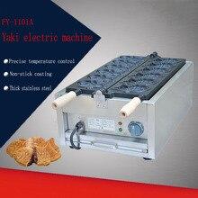 2 PC FY-1101A Electric 110v /220v Taiyaki Waffle grill fish shape waffle maker Six electric Taiyaki