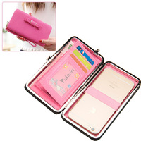 Klsyanyo Luxury Women Large Capacity Wallet Bags Elegant Girl Bowknot Purse Clutch Case For Cards Coin