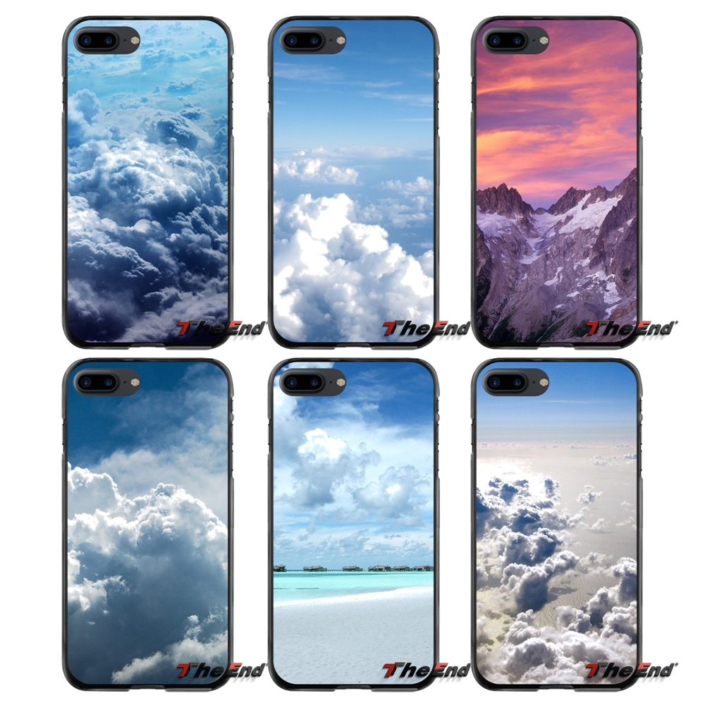 Accessories Phone Shell Covers Clouds SKY For Apple iPhone 4 4S 5 5S 5C SE 6 6S 7 8 Plus X iPod Touch 4 5 6