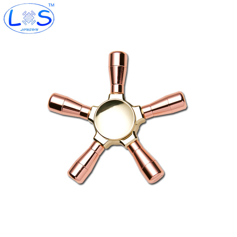 2017 High Quality Action Stainless steel EDC Spinner Fidgets Hand Spinner Can disassemble Rotation Time Long Anti Stress Toy