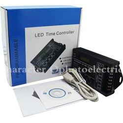 TC420 Tijd programmeerbare RGB LED Controller DC12V-24V 5 Kanaals LED Timing dimmer Totale Output 20A Gemeenschappelijke Anode met USB Draad
