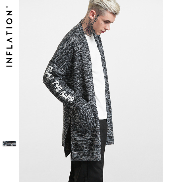 Inflation 2017 New Arrival Mens Long Knitted Cardigans Long Sleeve