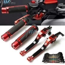 For HONDA CB599 /CB600F HORNET 1998 06 CB919 cb900f hornet 01 08 MOTORCYCLR Adjustable Foldable Brake Clutch Lever Handle Grips