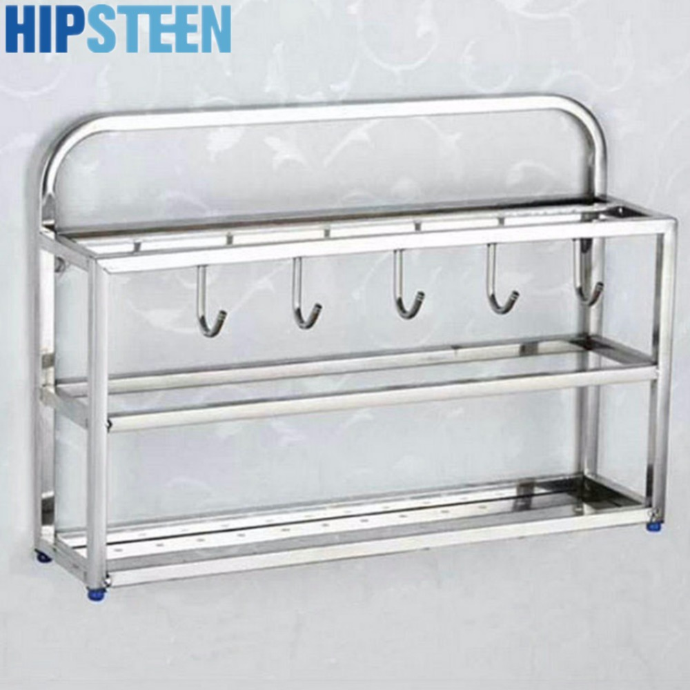 hipsteen three layer stainless steel kitchen hanging spice. Black Bedroom Furniture Sets. Home Design Ideas