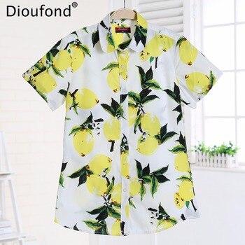 0ca9bf34bcd2 Dioufond/летние блузки с коротким рукавом и принтом животных, Новые  повседневные ...