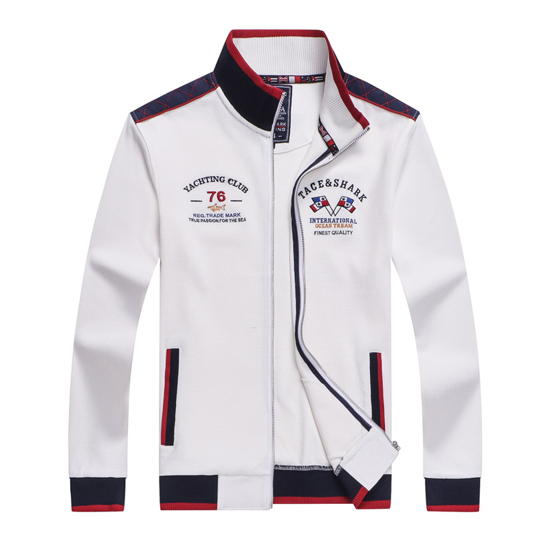 Tace & Shark brand embroidery men jacket chaqueta hombre zipper fashion & casual
