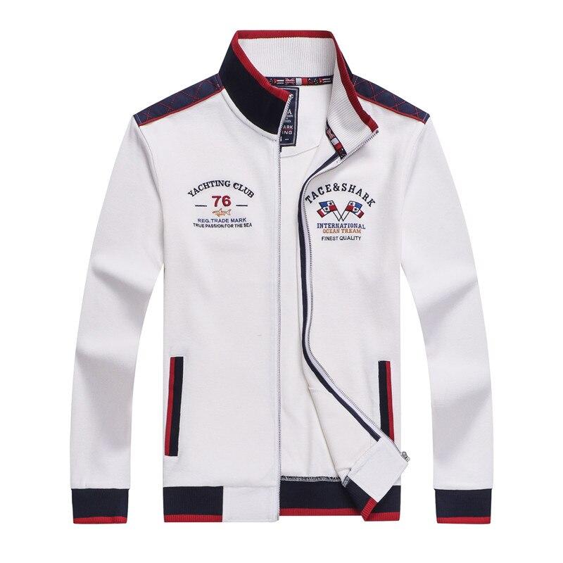 Tace & Shark Brand Embroidery Men Jacket Chaqueta Hombre Zipper Fashion & Casual Sweater Coat Doudoune Homme Jacket Men 2018