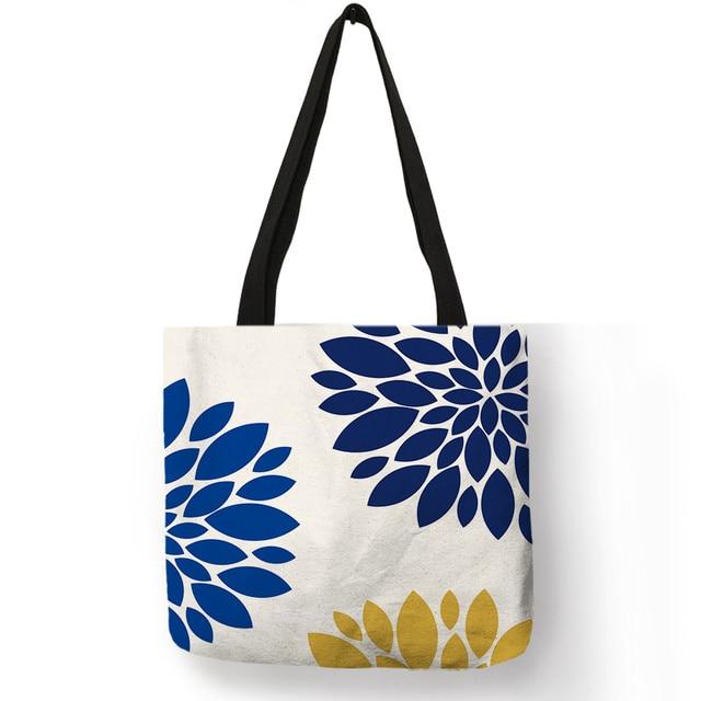 Sprint Multicolor floral design Cotton Travel Tote Bag Single Layered Screen printed travel bag Mandalas Stamp Reusable Bag Shopping Bag.