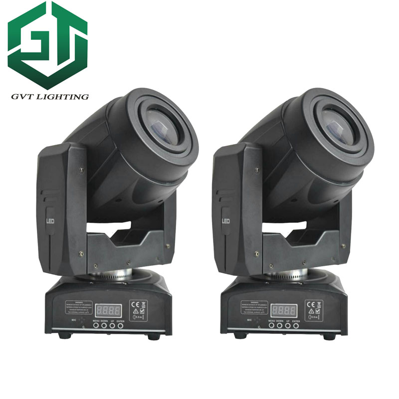 2pcs/lot 60W Led Moving Head Light Spot/Pattern Rotation Gobo 3 Face Prism DJ Stage Disco Light Nightclub Party Light 60 Watt