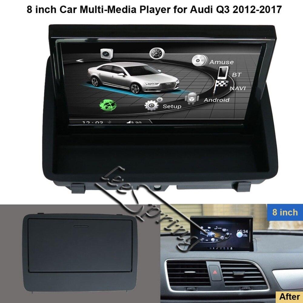 Lecteur multimédia de voiture Android 6.0 de 8 pouces pour Audi Q3 2012-2017 avec Navigation GPS MP5 Wifi