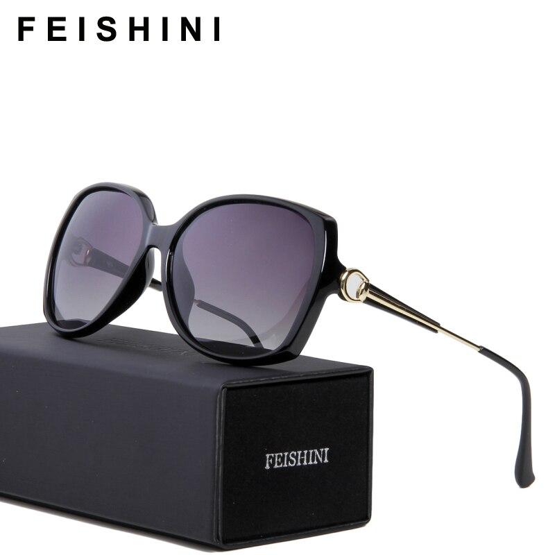 20572b3bf FEISHINI 2114 Anti fadiga UV400 Seguro Óculos de Sol Das Senhoras 2019 Sexy  Borboleta Óculos De