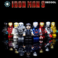9 шт./лот Классический ironman jeysey minifig серии Building Blocks устанавливает железный человек коллекция игрушки фигурки стайлинга автомобилей