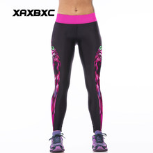 7768dfabe8e7d NEW 007 Sexy Girl Rose Owl Witchcraft Prints Slim High Waist Workout  Fitness Women Leggings Pants Trousers One Size