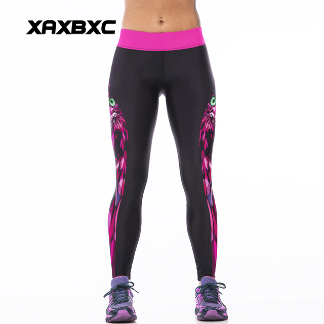 2c09555bc7 NEW 007 Sexy Girl Rose Owl Witchcraft Prints Slim High Waist Workout  Fitness Women Leggings Pants