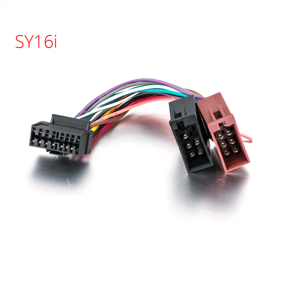 medium resolution of atocoto iso standard wire harness for sony cdx mex dsx wx car cd stereo iso connector on car auto radio audio stereo wiring harness
