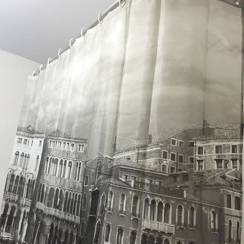 Venedig gemusterten Duschvorhang stilvolle Familie Badezimmer - Haushaltswaren - Foto 2
