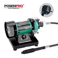 POSENPRO 150 Вт 3 мини; шлифовальный станок скорость регулируемый с Flex Вал Поворотный шлифовальные станки полировальная машина полировщик инстр