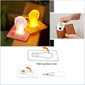 Portable LED Kids Mini Card Night Light Wallet Size New Design nightlight children's Creative Cute LED Bulb Lamp Home Children