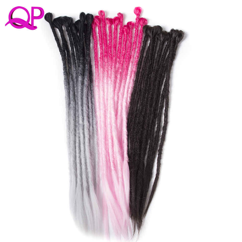 Qp Hair 5 stand Synthetic Dreadlocks Hair Crochet Braids Marley Hair Kanekalon Crochet B ...