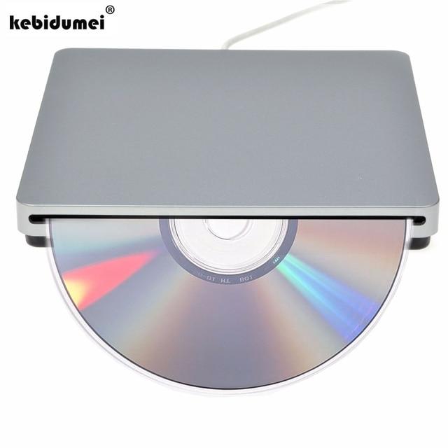 New USB DVD Drives Optical Drive External DVD RW Burner Writer Recorder Slot Load CD ROM Player for Apple Macbook Pro Laptop PC