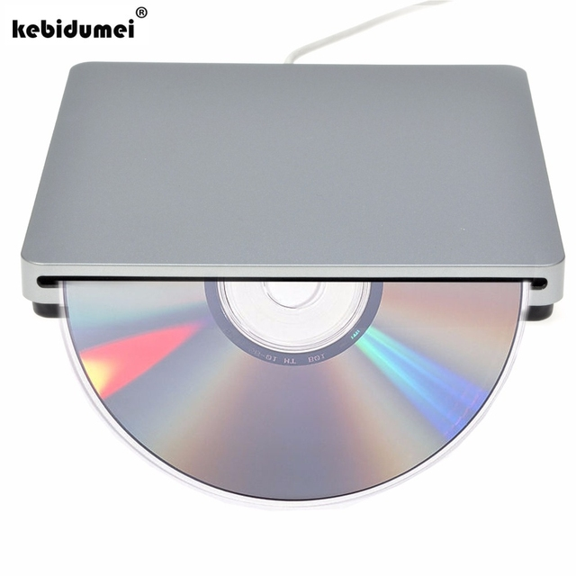 kebidumei USB DVD Drives Optical Drive External DVD RW For Burner Writer Recorder Slot Load CD ROM Player for Apple Macbook Pro