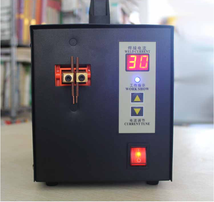 Portable spot welding lithium battery spot welding machine 18650 battery micro battery welder pulse belt LED lamp 220V welding control board of s787a 18650 battery universal spot welding fixture for spot welder