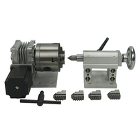 A axis four jaw chuck Rotary Axis + CNC Tailstock For Our CNC engravers with limit switch cnc machine