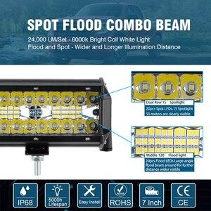 Image 3 - OKEEN LED Light Bar 7Inch Spot Flood Combo Off Road Lights 12V 120W LED Driving Fog Work Light for Jeep Trucks ATV Buggy UTV SUV