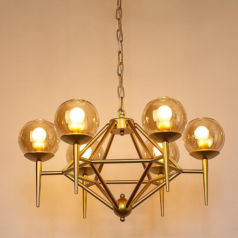 Nordic creative magic chandeliers living room American minimalist modern restaurant lamps glass ball art chandeliers LED lamps цена и фото