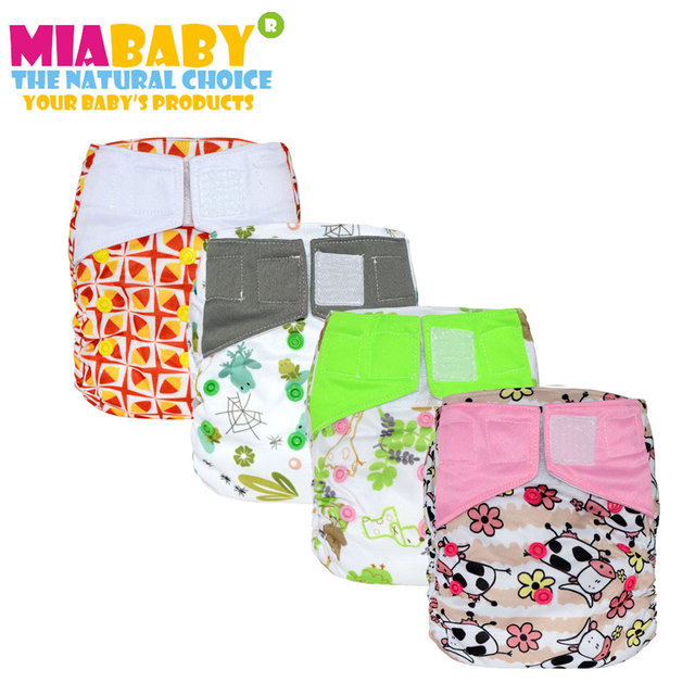 Miababy Os Nuit Aio Couches Lavables Pour Bebe Bambou Cousu
