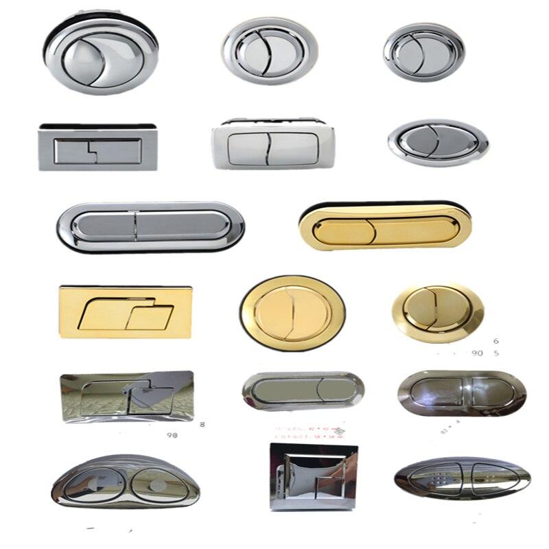 High Quality Dual Flush Toilet Tank Button 58mm/48mm/38mm Gold Round Head Push Button Bathroom Accessories Water Saving Valve