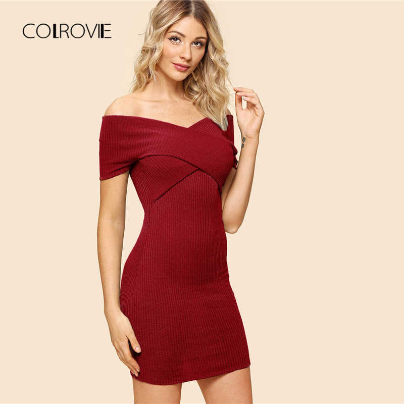 bb9a418b909e8 Detail Feedback Questions about COLROVIE Ruffle Off The Shoulder ...
