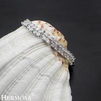 Hermosa Jewelry Charm Leaves Wheat 925 Sterling Silver Bracelets 7.5 18cm