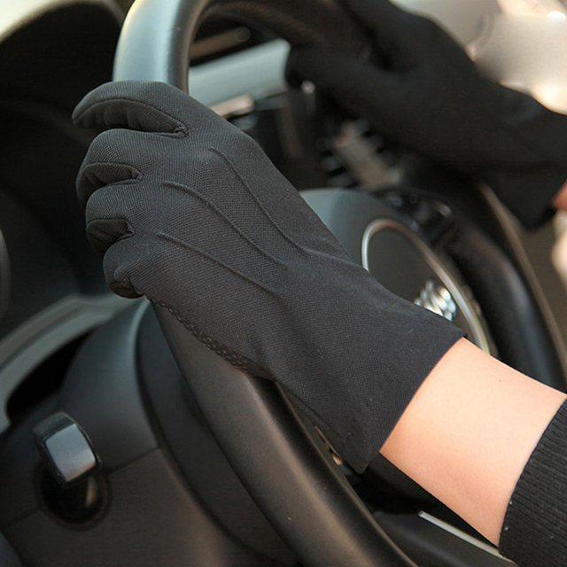 2020 Summer Sun Protection Gloves Male Thin Breathable Anti-Slip Driving Gloves Anti-UV Full Fingers Man Mittens SZ105W1 1